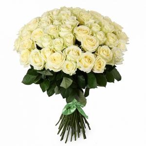 101 balta rožė - Gėlių pristatymas į namus Kėdainiuose
