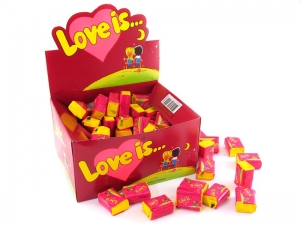 Kramtoma guma Love is vyšnių ir citrinų skonio 100 vnt - Gėlės į namus Vilniuje