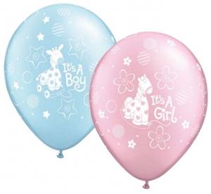 Vaiko gimimo balionas su helio - Gėlių pristatymas į namus Druskininkuose