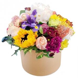 Gelių dėžutė Mix - Gėlių pristatymas į namus Utenoje