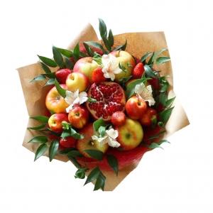 Valgoma/Nevalgoma puokštė Granato žvilgsnis - Gėlių pristatymas į namus Telšiuose
