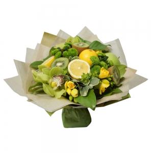 Valgoma/Nevalgoma puokštė Kivių kokteilis - Gėlių pristatymas į namus Kėdainiuose
