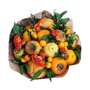 Valgoma/Nevalgoma puokštė Rudens džiaugsmas - Gėlių pristatymas į namus Kėdainiuose