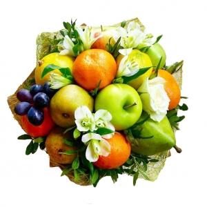 Valgoma/Nevalgoma puokštė Vaisių malonė - Gėlių pristatymas į namus Telšiuose