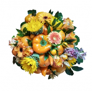 Valgoma/Nevalgoma puokštė Rudens fantazija - Gėlių pristatymas į namus Kėdainiuose