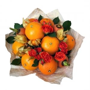Valgoma/Nevalgoma puokštė Liepsna - Gėlių pristatymas į namus Kėdainiuose