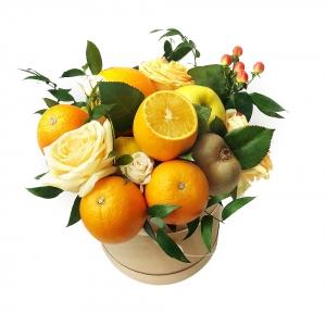 Valgoma/Nevalgoma puokštė Gaivumas - Gėlių pristatymas į namus Kėdainiuose