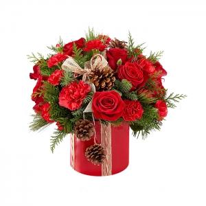 Dėžutė šventinė 2 - Gėlių pristatymas į namus Kėdainiuose