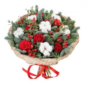 Puokstė Kalėdos - Gėlių pristatymas į namus Kėdainiuose
