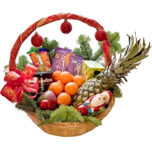 Kalėdų skanumynų krepšys - Gėlių pristatymas į namus Vilniuje