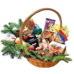 Kalėdų krepšys Mix - Gėlių pristatymas į namus Kaune
