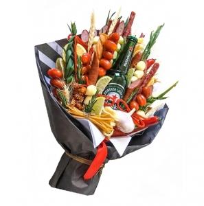 [TIK VILNIUJE] Valgoma/Nevalgoma puokštė Vyrams 4 - Gėlių pristatymas į namus Vilniuje