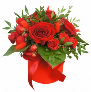 Raudona dėžutė - Gėlių pristatymas į namus Šiauliuose