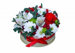 Ramus vakaras (Alstromerijos, rožės) - Gėlių pristatymas į namus Utenoje