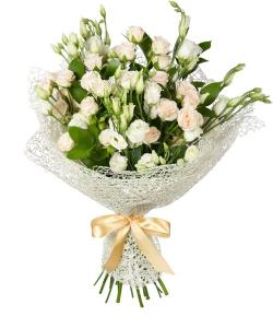 Kreminės eustomos - Gėlių pristatymas į namus Palangoje