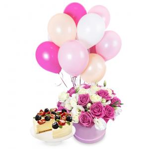 Rožinis rinkinukas 2 - Gėlių pristatymas į namus Utenoje