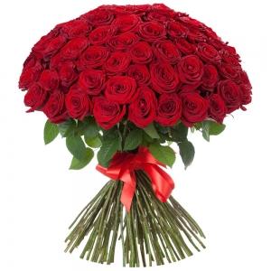 5 žvaigždučių rožės PREMIUM 80-90cm - Gėlių pristatymas į namus Palangoje