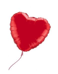 Folinis balionas – širdis, su heliu
