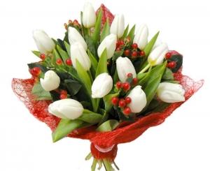 Balta-raudona - Gėlių pristatymas į namus Vilniuje