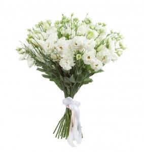 Baltos eustomos - Gėlių pristatymas į namus Mažeikiuose