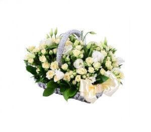 Gėlių pintinė - Gėlių pristatymas į namus Druskininkuose