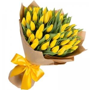 Geltonos tulpės - Gėlių pristatymas į namus Vilniuje