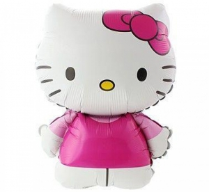 Hello Kitty, Balionas su heliu - Gėlių pristatymas į namus Druskininkuose