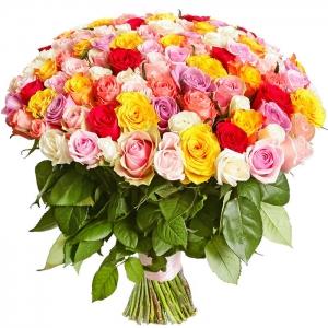 Įvairių spalvų rožės - Gėlių pristatymas į namus Utenoje
