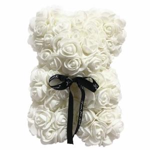 Kvepiantis meškiukas Rose Bear, baltas - Gėlių pristatymas į namus Kaune