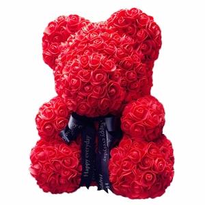 Kvepiantis meškiukas Rose Bear, raudonas - Gėlių pristatymas į namus Vilniuje