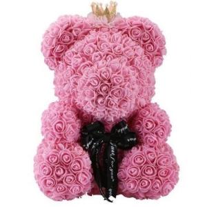 Kvepiantis meškiukas Rose Bear, rožinis - Gėlių pristatymas į namus Kėdainiuose