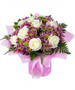 Laimės puokštė - Gėlių pristatymas į namus Utenoje