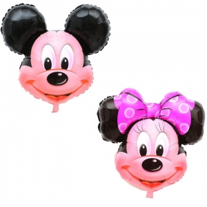 Mickey arba Minnie, Balionas su heliu - Gėlių pristatymas į namus Ukmergėje