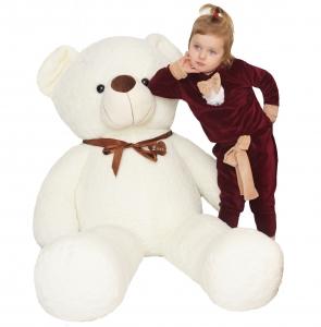 Pliušinis meškinas Buddy, Baltas 80cm - 180cm