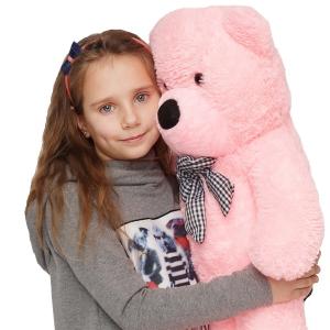 Pliušinis meškinas Tedis, ružavas 80cm - 200cm - Gėlių pristatymas į namus Kaune