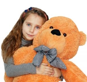 Pliušinis meškinas Tedis, švesiai rudas 80cm - 200cm