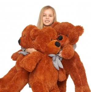 Pliušinis meškinas Tedis, tamsiai rudas 80- 200 cm - Gėlių pristatymas į namus Kėdainiuose