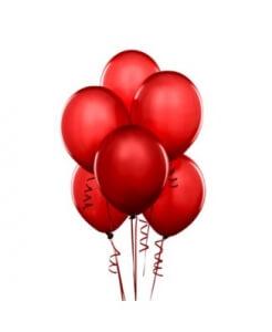 Raudoni balionai su heliu 5 vnt. - Gėlių pristatymas į namus Druskininkuose
