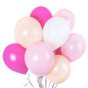 Rožiniai helio balionai, 11vnt - Gėlių pristatymas į namus Utenoje