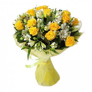 Saulės sveikinimas - Gėlių pristatymas į namus Alytuje