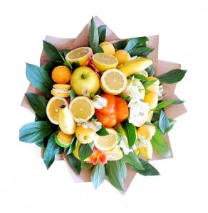 Valgoma puokštė Multivitamino skonis - Gėlių pristatymas į namus Marijampolėje