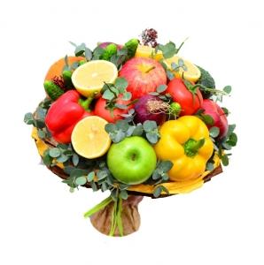 Valgoma/Nevalgoma puokštė Spalvota emocija - Gėlių pristatymas į namus Tauragėje
