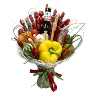 Valgoma puokštė Vyrams 5 - Gėlių pristatymas į namus Utenoje